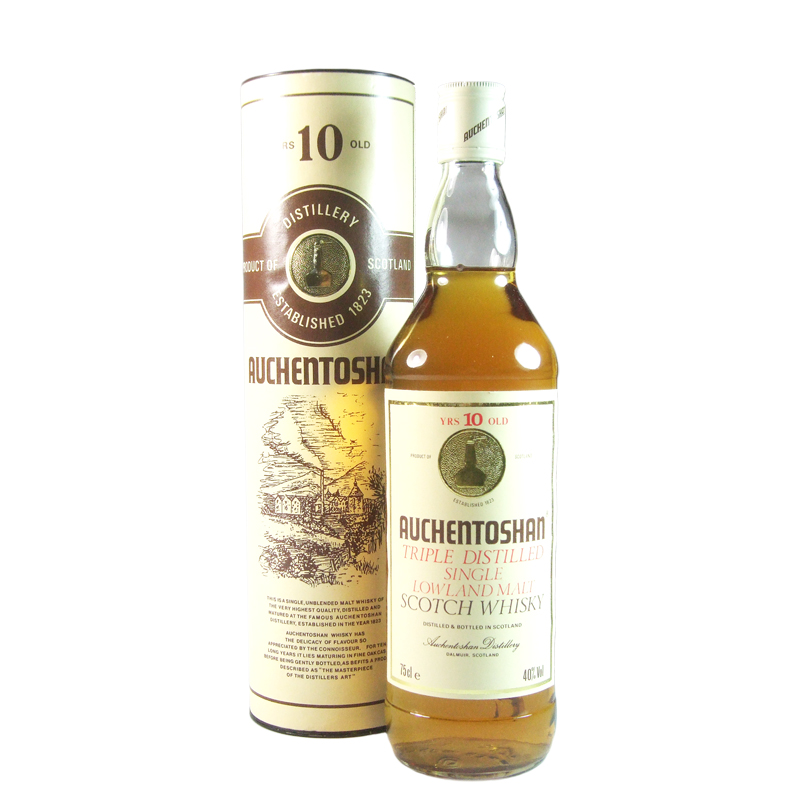 Auchentoshan 10 Year Old, Eighties Bottling with Tube and Miniature