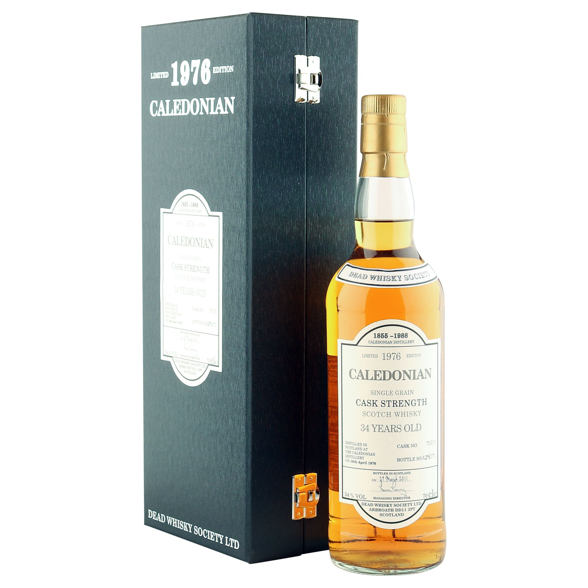 Caledonian 1976 34 Year Old, Dead Whisky Society 2011 Bottling