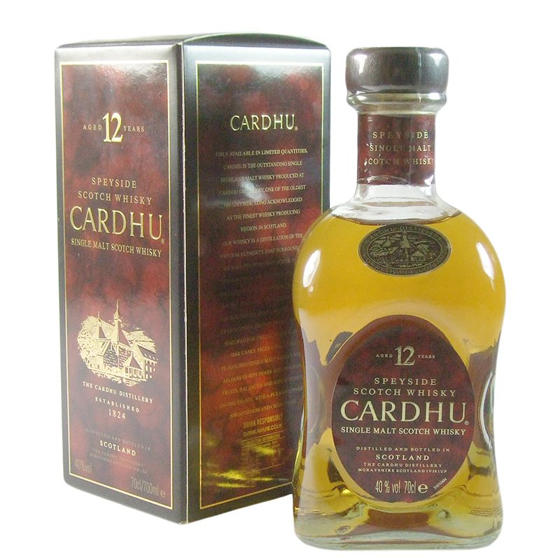 Cardhu 12 Year Old, Nineties Bottling with Box