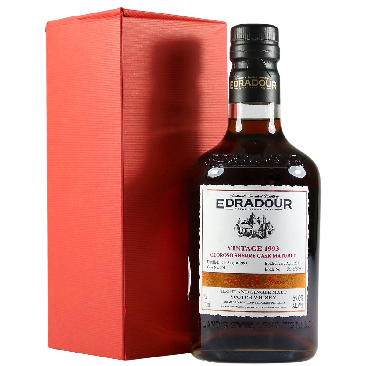 Edradour 1993 18 Year Old, Oloroso Sherry Cask | The Whisky Vault