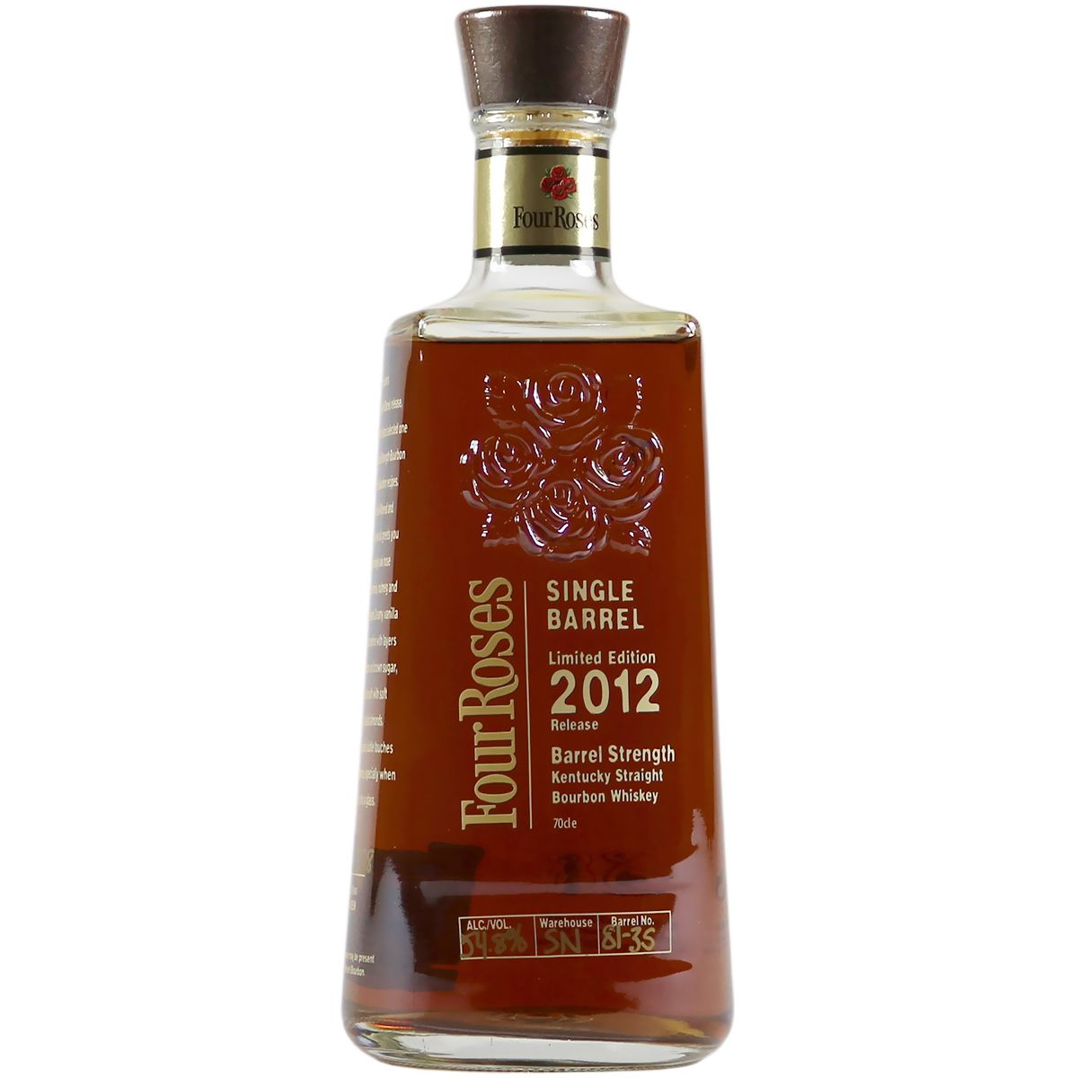 Four Roses Single Barrel, Limited 2012 Bourbon | The Whisky Vault