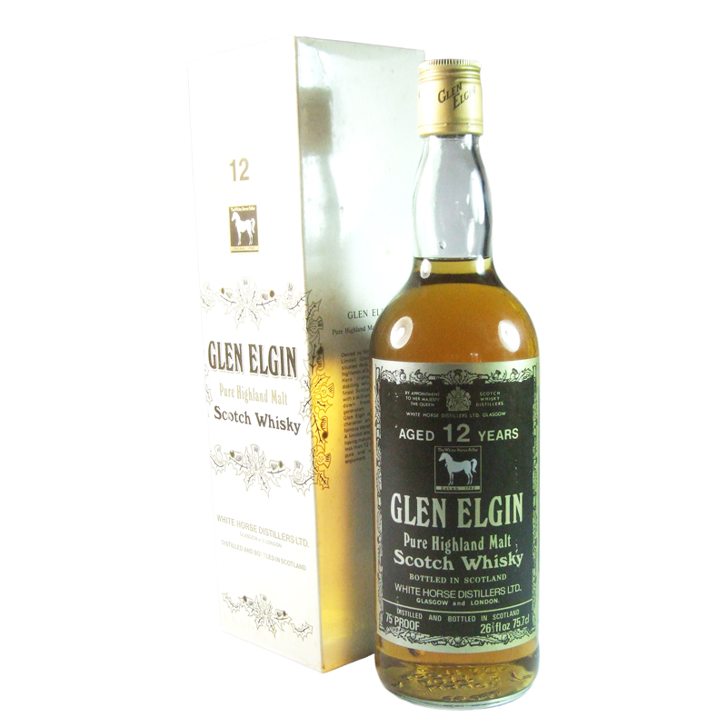 Glen Elgin 12 Year Old, White Horse Label with Box