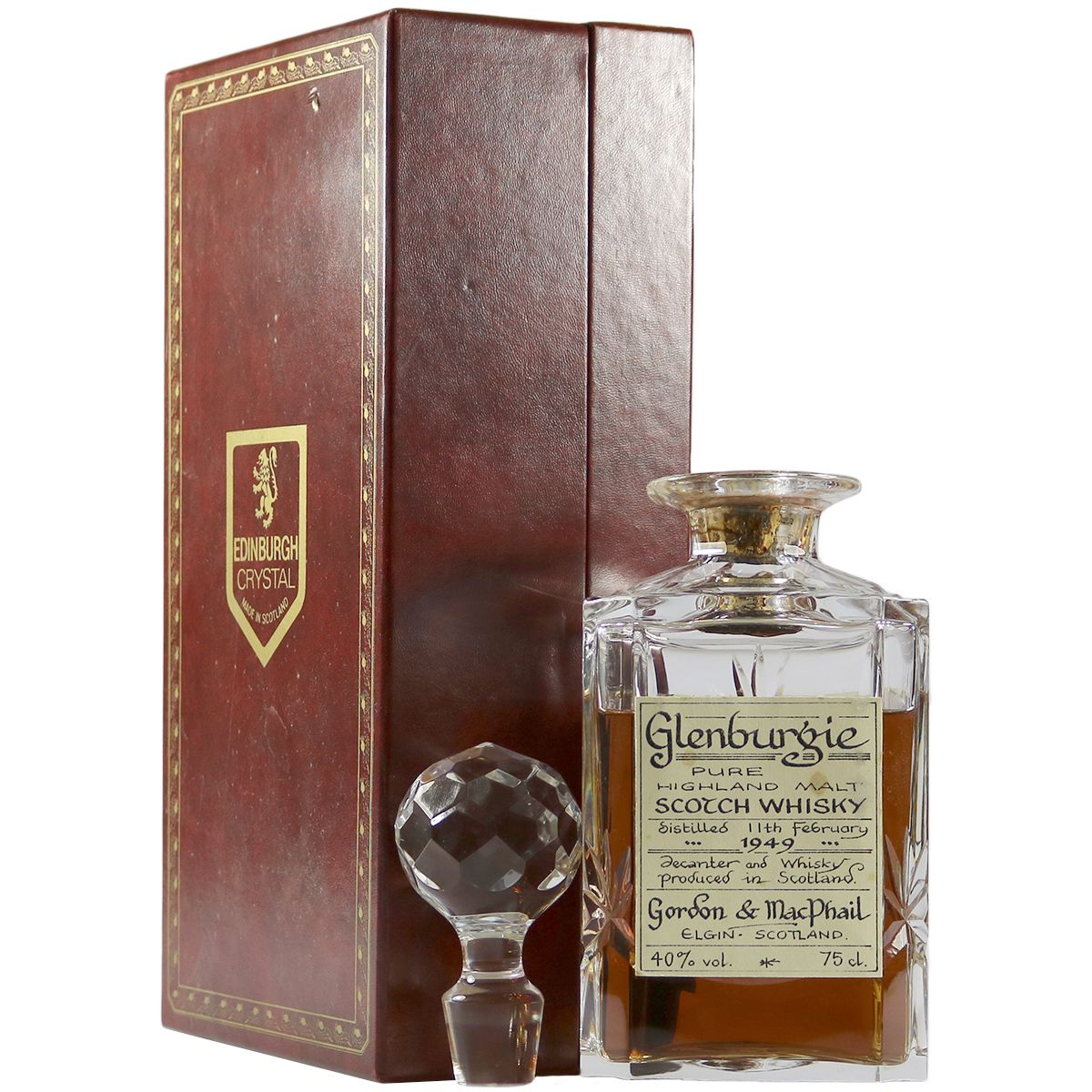 Glenburgie 1949, Gordon & MacPhail Crystal Decanter | The Whisky Vault