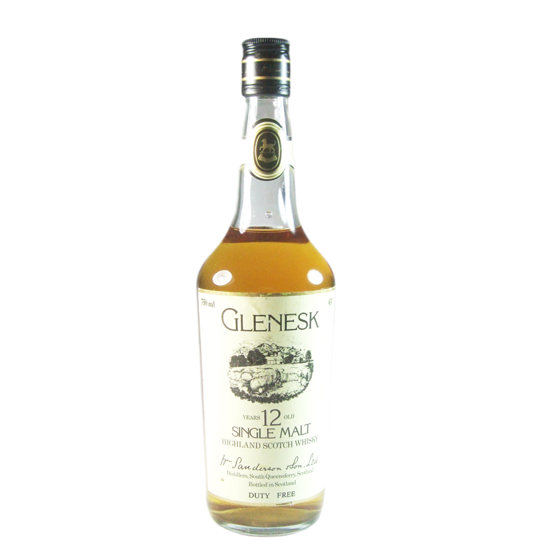 Glenesk 12 Year Old, Eighties Bottling for Duty Free Market