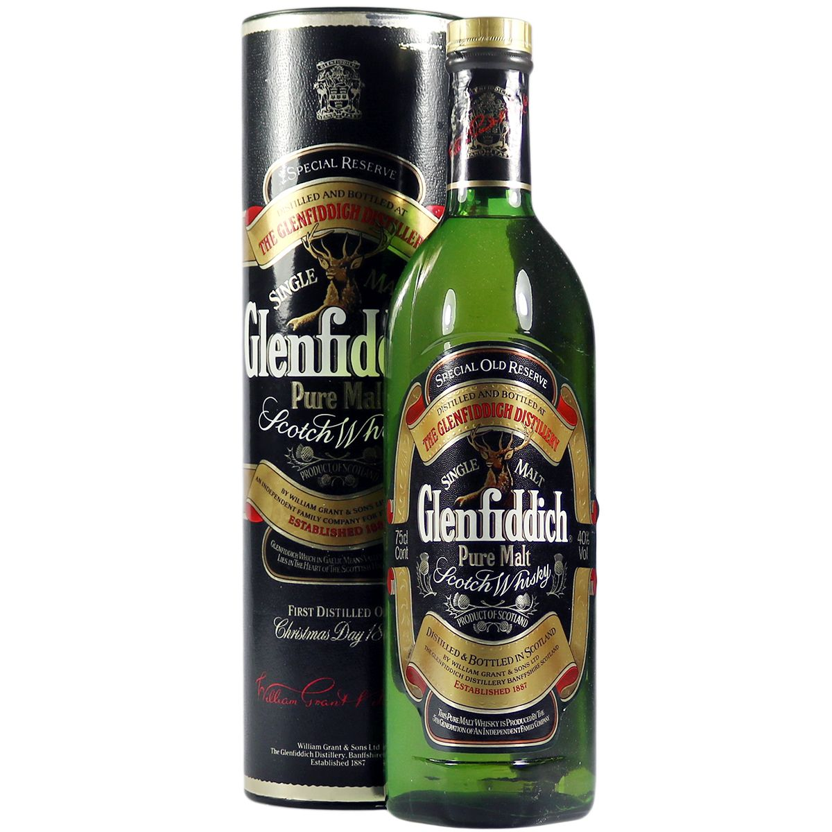 Glenfiddich Pure Malt, Eighties Bottling with Tube | The Whisky Vault