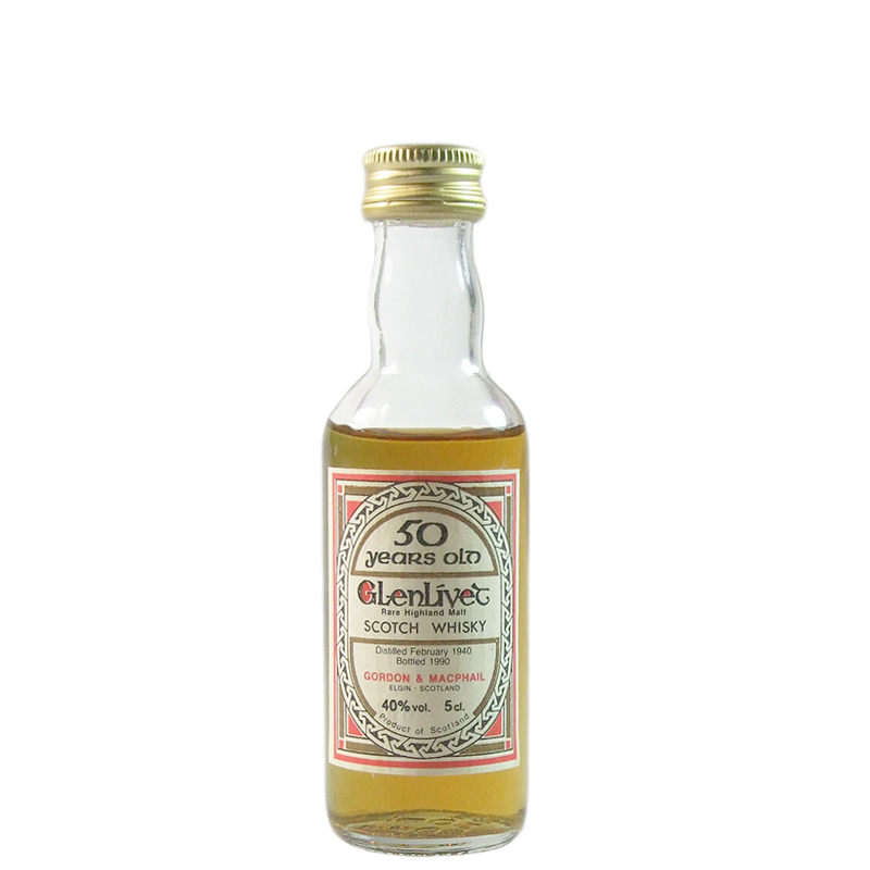 Glenlivet 1940 50 Year Old, Gordon & MacPhail 5CL Miniature Bottling