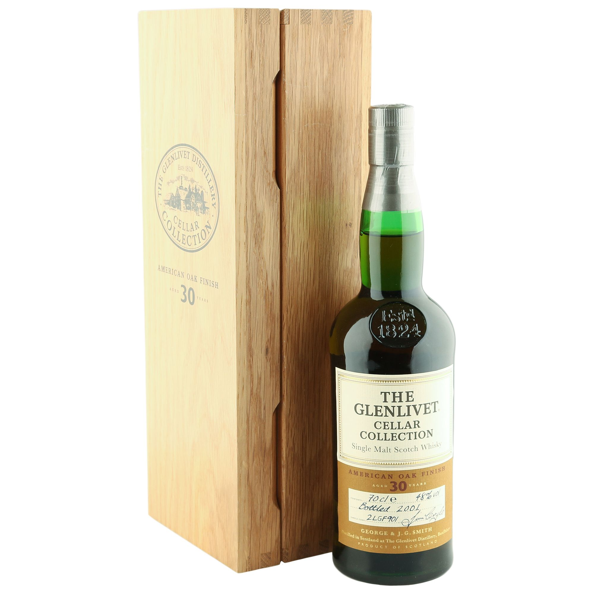 glenlivet 30 year old 2001 cellar collection the whisky vault
