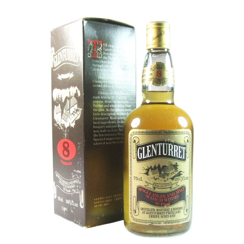 Glenturret 8 Year Old, Seventies Bottling with Box