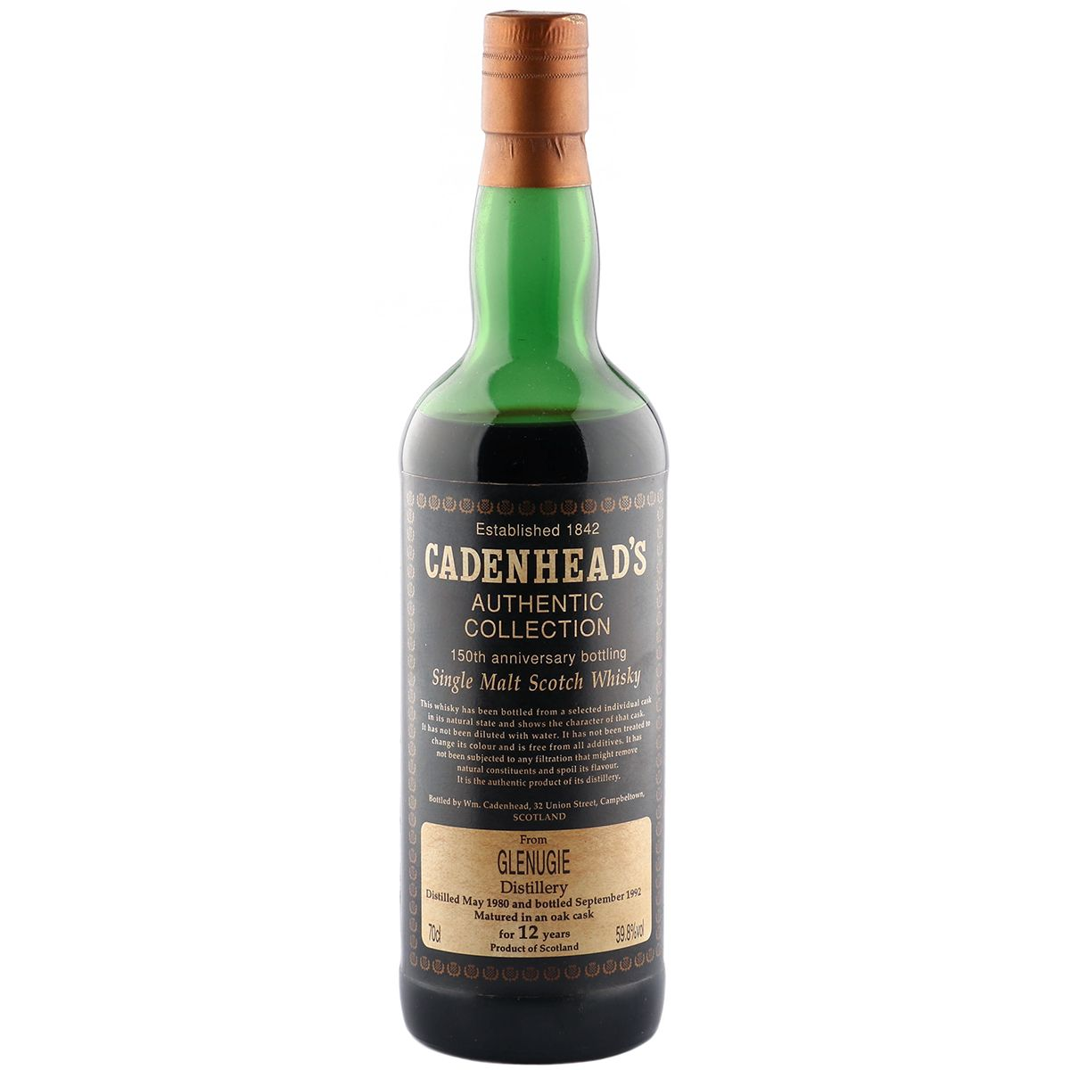 Glenugie 1980 12 Year Old, Cadenhead's 1992 | The Whisky Vault