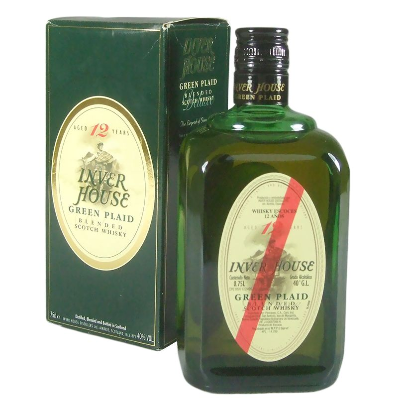 Inver House 12 Year Old Blended Scotch Whisky, Green Plaid with Box
