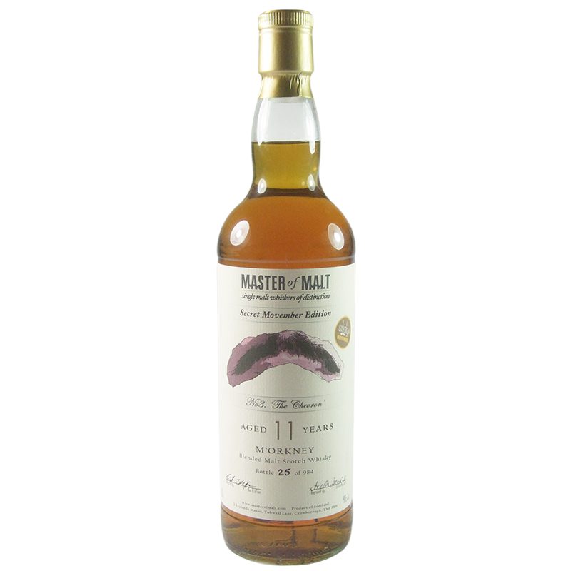 M'Orkney 11 Year Old, Secret Movember Edition - The Chevron