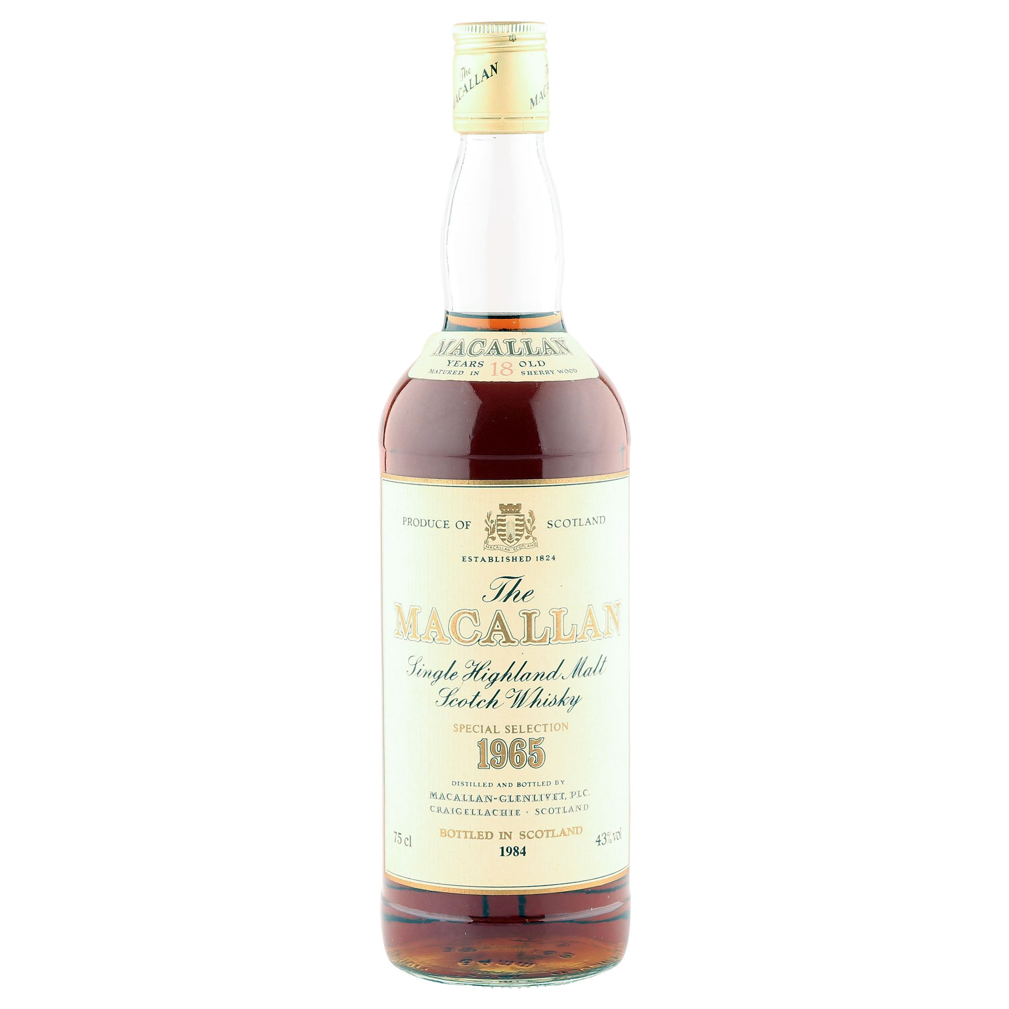 Macallan 1965 18 Year Old, Vintage UK Bottling