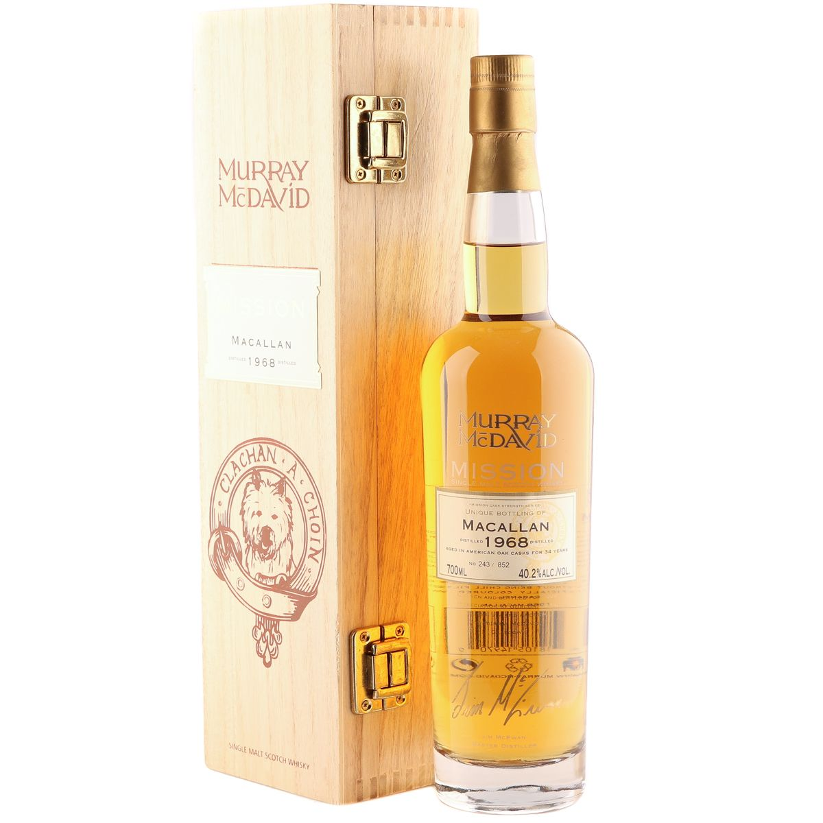 Macallan 1968 34 Year Old, Murray McDavid Mission | The Whisky Vault