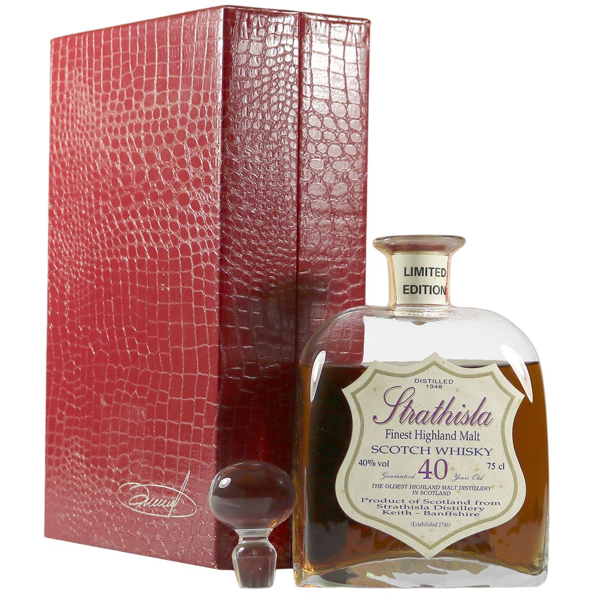 Strathisla 1948 40 Year Old Decanter | The Whisky Vault