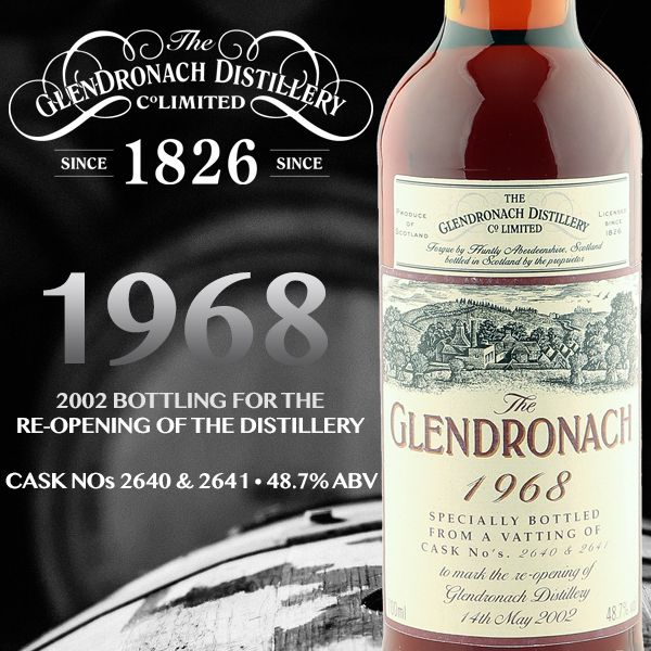 Glendronach 1968 Re-opening of Distillery