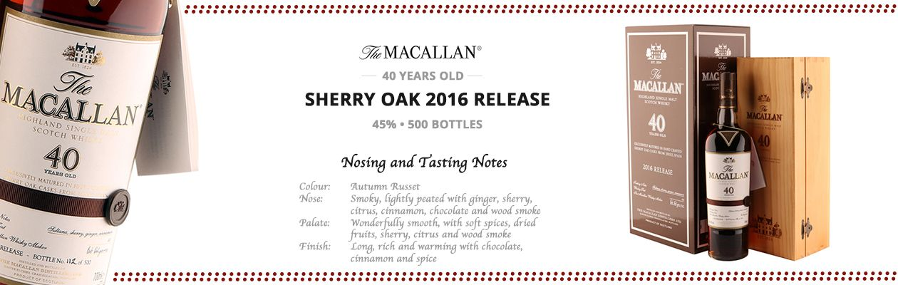 Macallan 40yo 2016 Sherry Oak